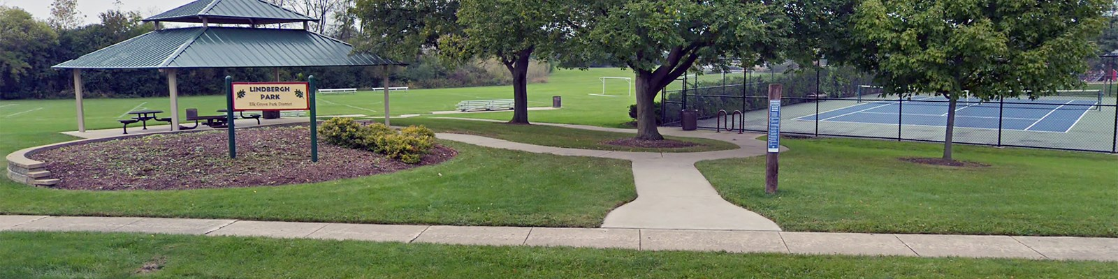 Lindbergh Park, Playground, Shelters, Soccer Fields and Tennis Courts